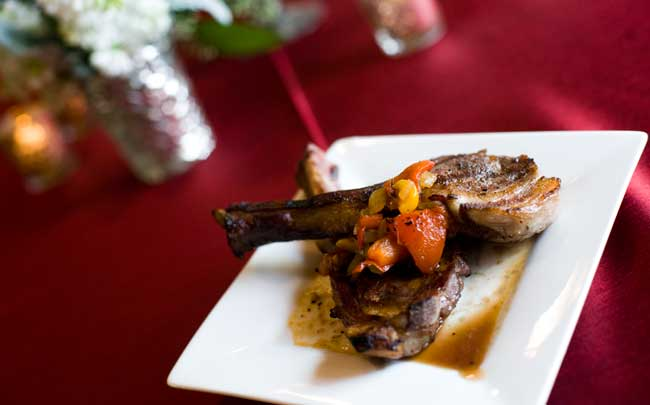 Grilled Lamb Chop with Red Pepper Relish