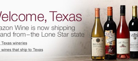 Amazon Expands Wine Sales to Texas