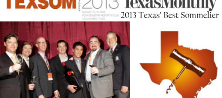 SCOTT OTA OF ARRO RESTAURANT NAMED TEXAS' BEST SOMMELIER AT 9th ANNUAL TEXSOM