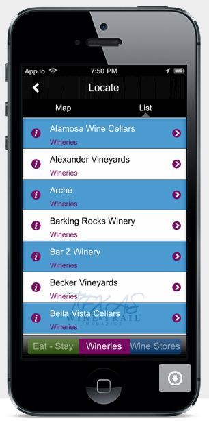 App winery list