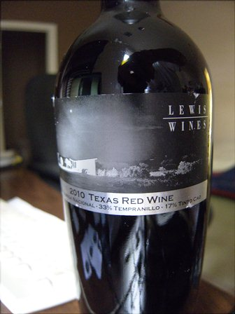 Lewis Wines 2010 Texas Red