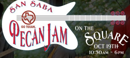 3rd Annual San Saba Pecan Jam on the Square Oct 19