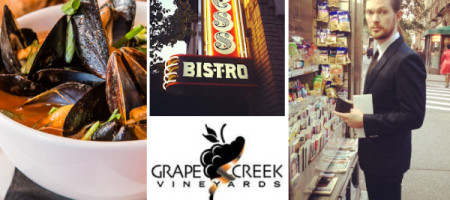 Chef Justin Raiford Pairs Grape Creek Vineyards Viognier