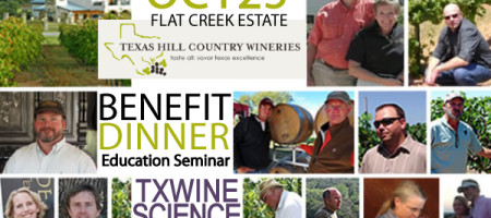 Dine with Winemakers, Owners and Growers at Texas Wine Science Fair October 25th