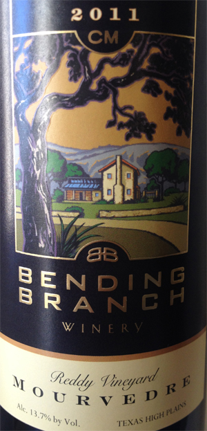 Bending-Branch-Mourvedre-Label