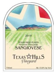Texas Hills Vineyard 2010 Sangiovese