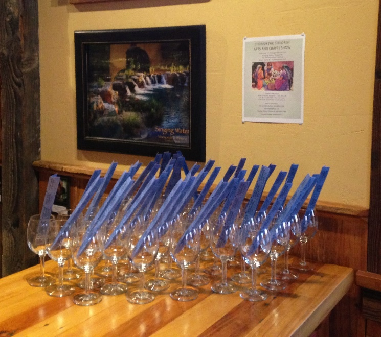 Glasses and Tickets Awaiting Guests