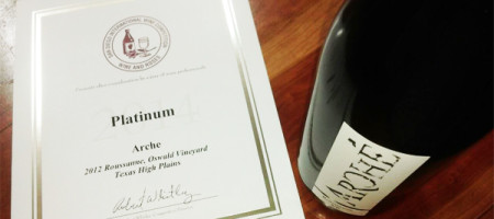 Texas Roussanne Wins Platinum at San Diego International Wine Competition