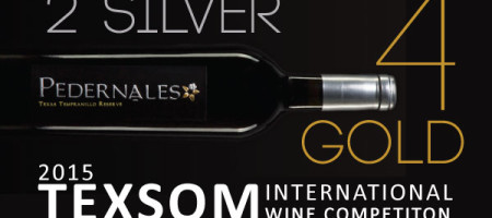 PEDERNALES CELLARS WINS FOUR GOLD MEDALS AT 2015 TEXSOM COMPETITION: Tempranillo, Vermentino and Viognier Honored