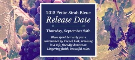 Kerrville Hills Winery Releases 2012 Petite Sirah, Bleue