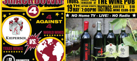 Wine Smackdown Series 4: Kiepersol Winery vs. Wines from Around the World