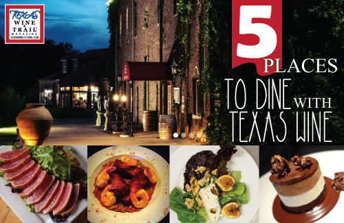 5 Texas Wineries For Food Lovers