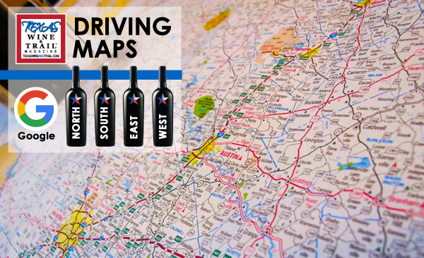 Texas Wine Country Map Driving Maps   Texas Wine and Trail Magazine